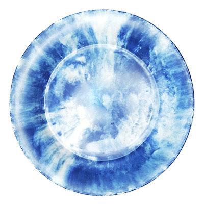 """צלחת 17.5 ס""""מ קלאודי כחול מלמין"""