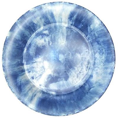 """צלחת 20.2 ס""""מ קלאודי כחול מלמין"""