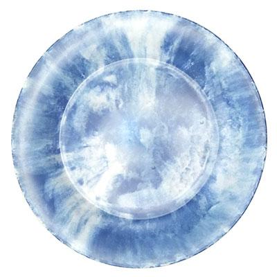 """צלחת 22.5 ס""""מ קלאודי כחול מלמין"""