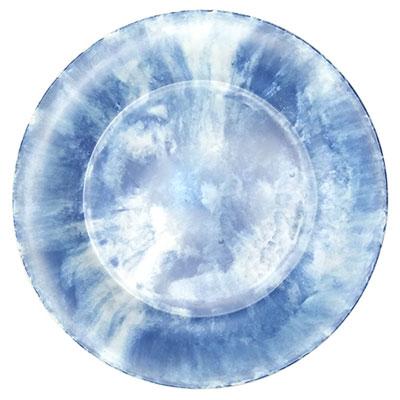 """צלחת 25.5 ס""""מ קלאודי כחול מלמין"""