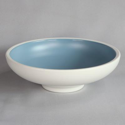"""קערה עגולה טאיג'י 25.4 ס""""מ מלמין כחול לבן"""