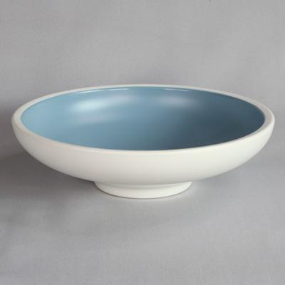 """קערה עגולה טאיג'י 30.5 ס""""מ מלמין כחול לבן"""