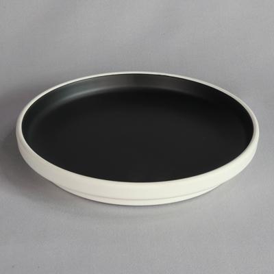 """מגש עגול טאיג'י 28 ס""""מ מלמין שחור לבן"""