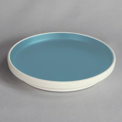 """מגש עגול טאיג'י 28 ס""""מ מלמין כחול לבן"""