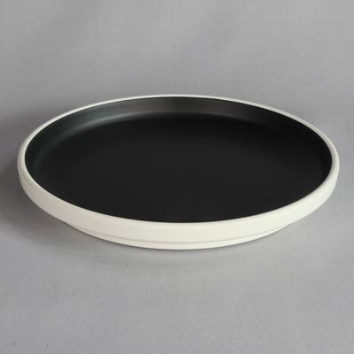 """מגש עגול טאיג'י 30.5 ס""""מ מלמין שחור לבן"""