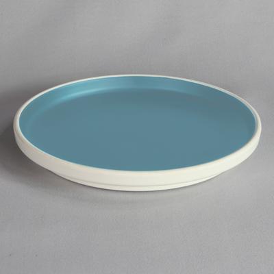 """מגש עגול טאיג'י 30.5 ס""""מ מלמין כחול לבן"""